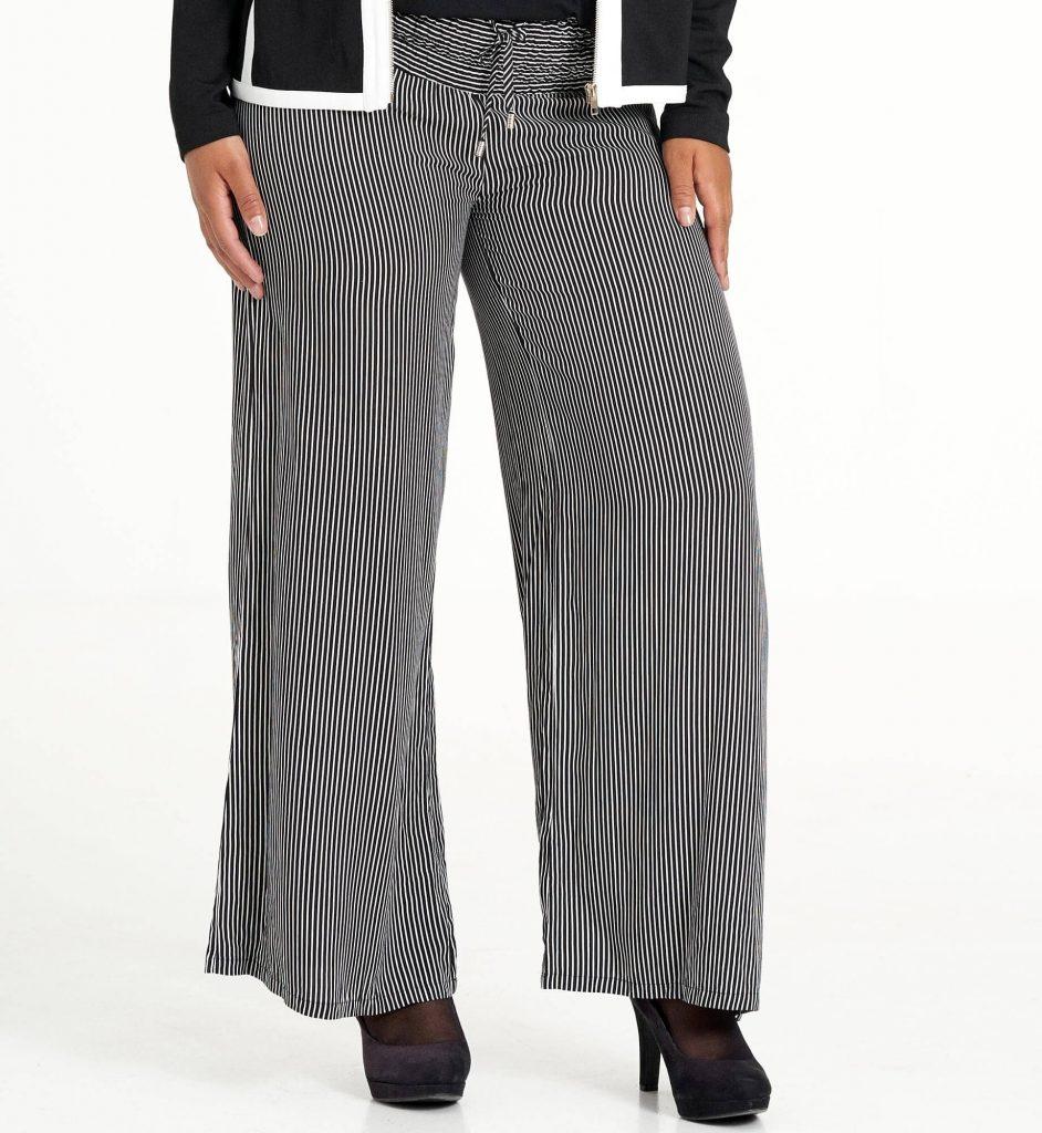 Lange flotte stribede bukser i blødt viskose fra Studio