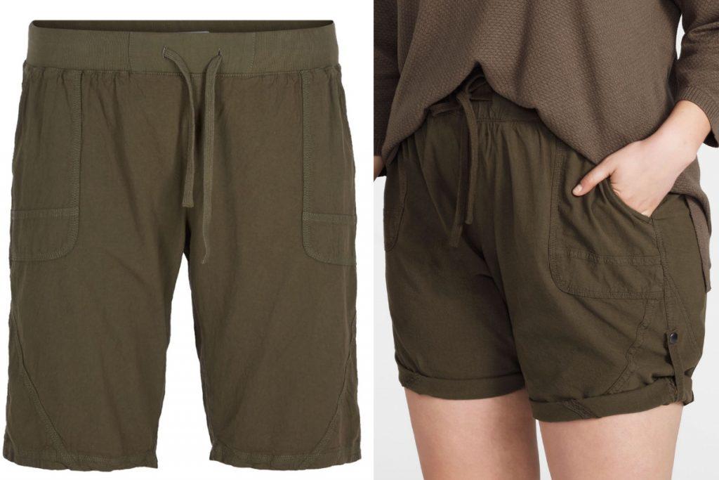 Shorts i 100% bomuld med opsmøgnings mulighed