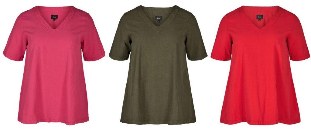 T-shirt i 100% bomuld i A facon