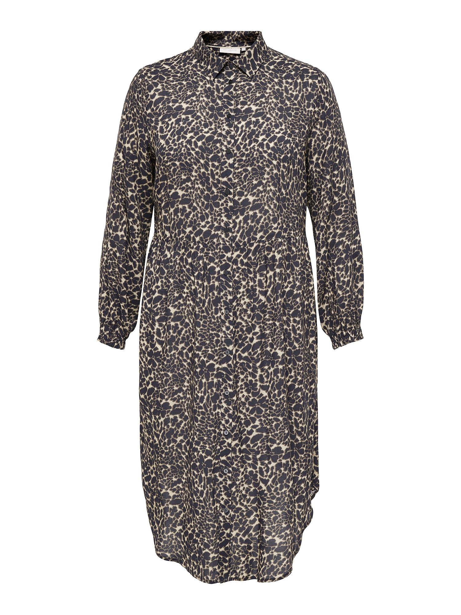Only Carmakoma Lang skjorte kjole i 100% viskose med det skønneste leo print, 42