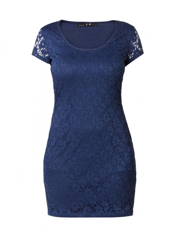 Flot marineblå blonde kjole