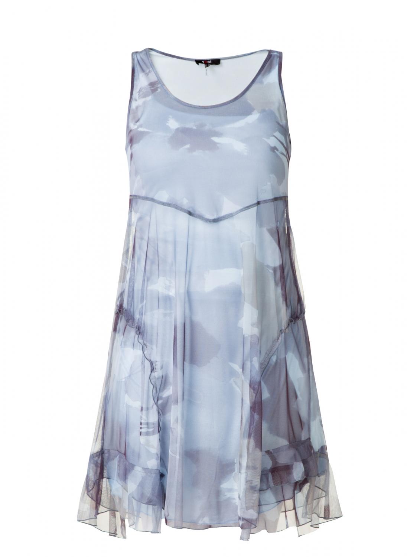 Kjole med marmor print