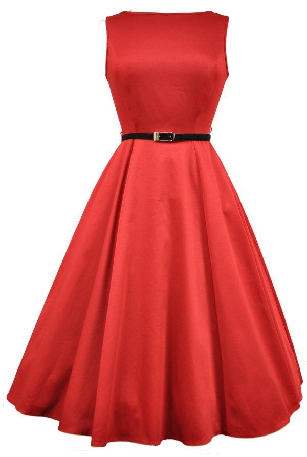 Smuk rød kjole