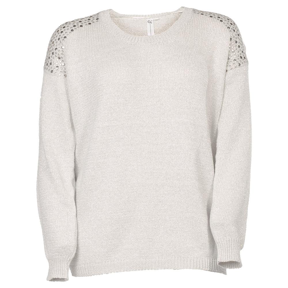 Sølvgrå trøje med blanke nitter