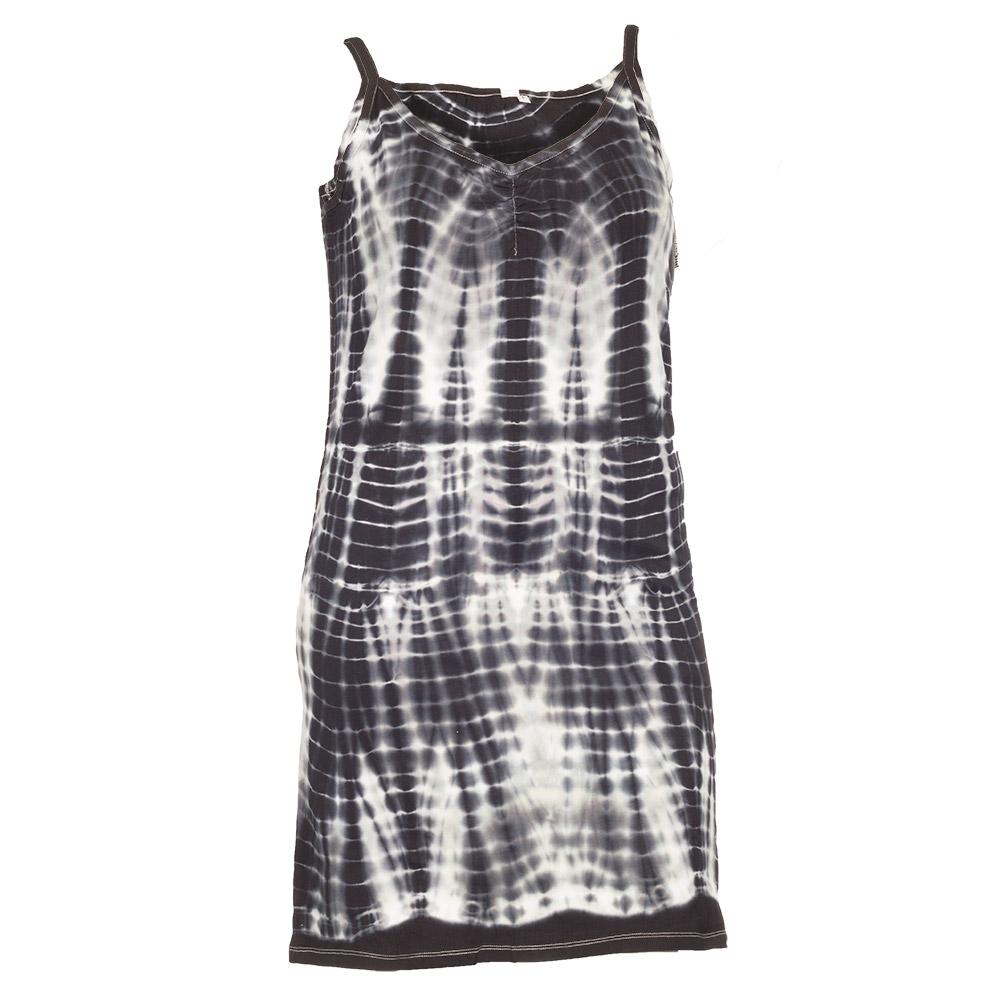 Kjole med sort batikmønster
