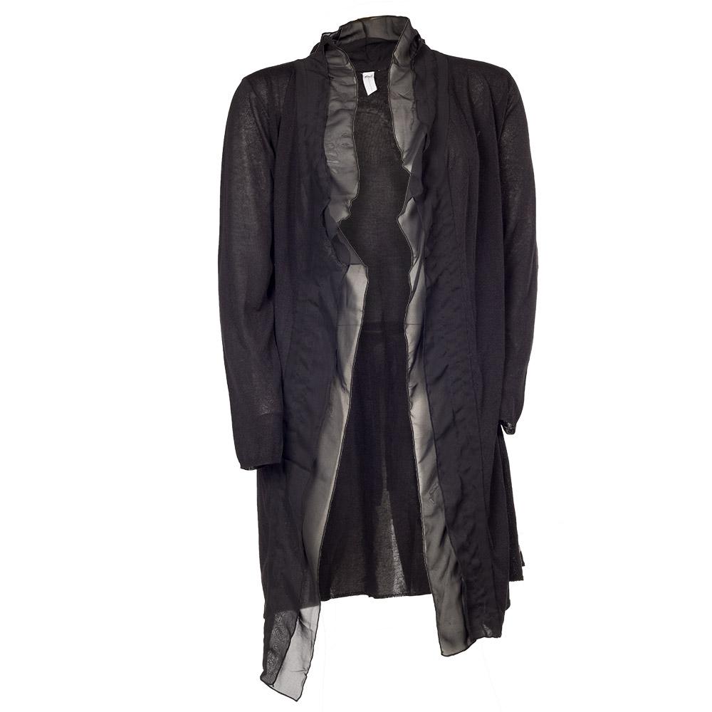 Lang sort åben bluse/cardigan