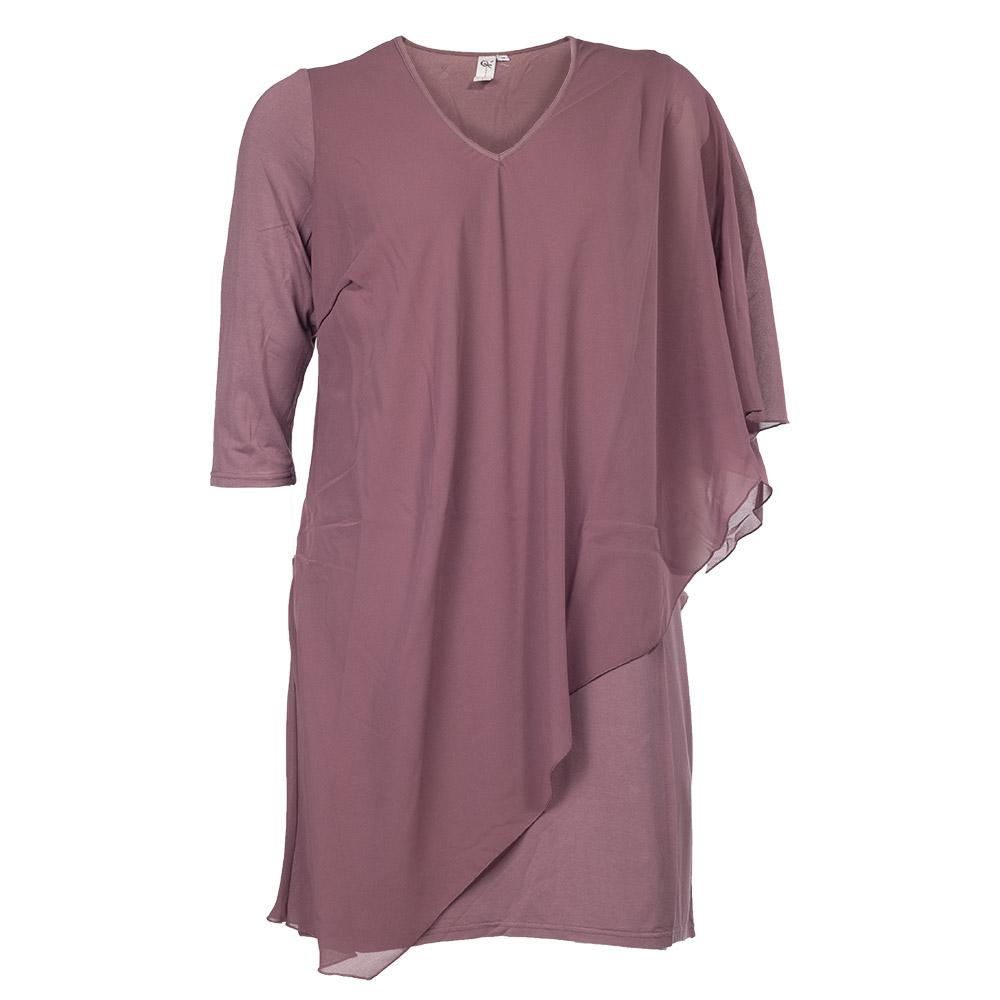 Lilla kjole med skråt snit