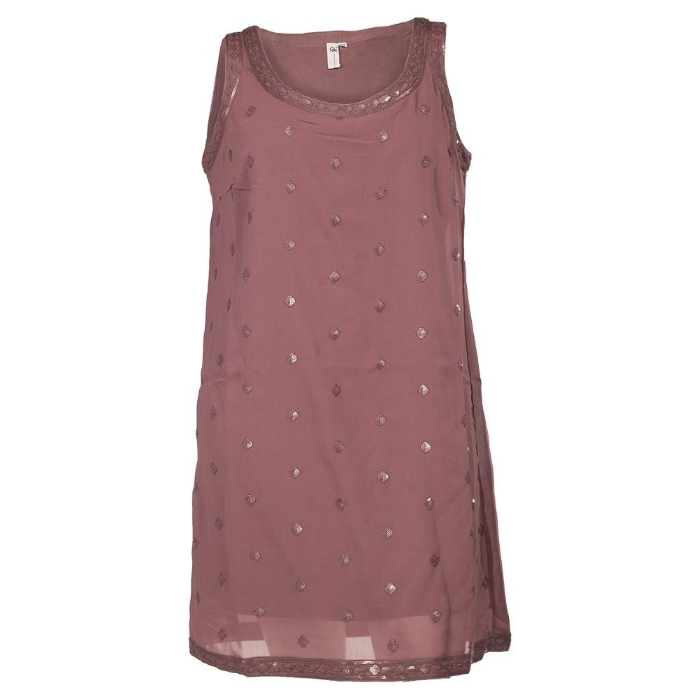 Lilla kjole med palietmønster
