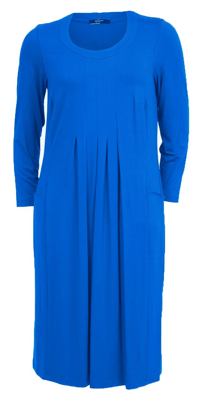 Lang blå kjole