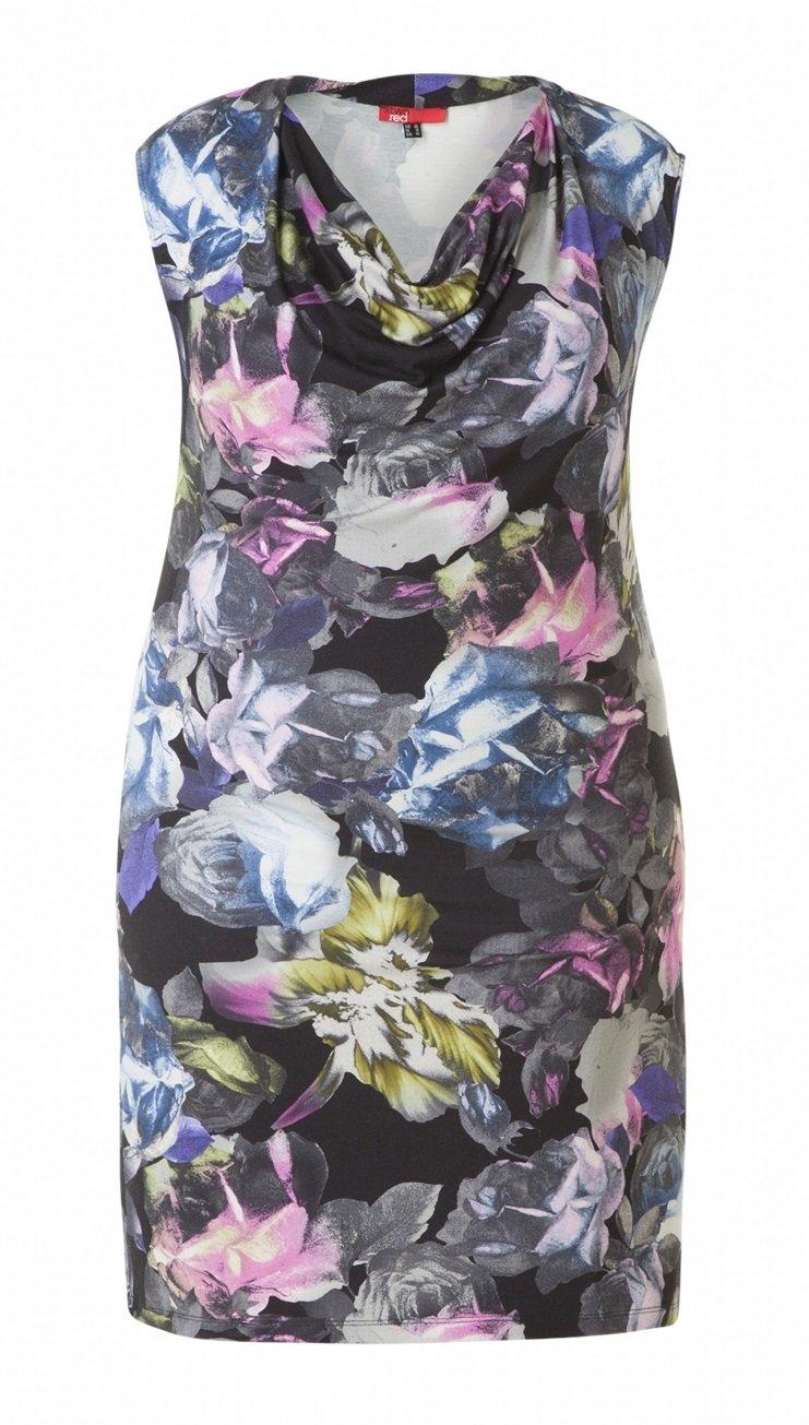 Kjole med blomsterprint i skønne farver