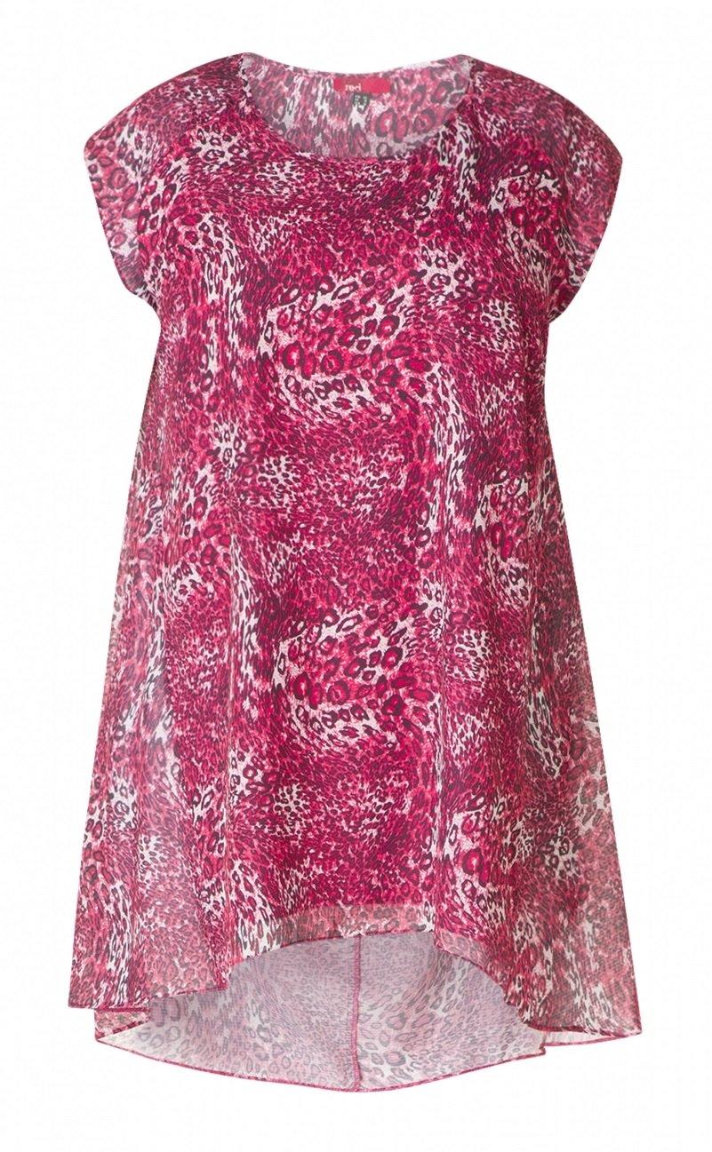 Super flot tunika i pink dyreprint
