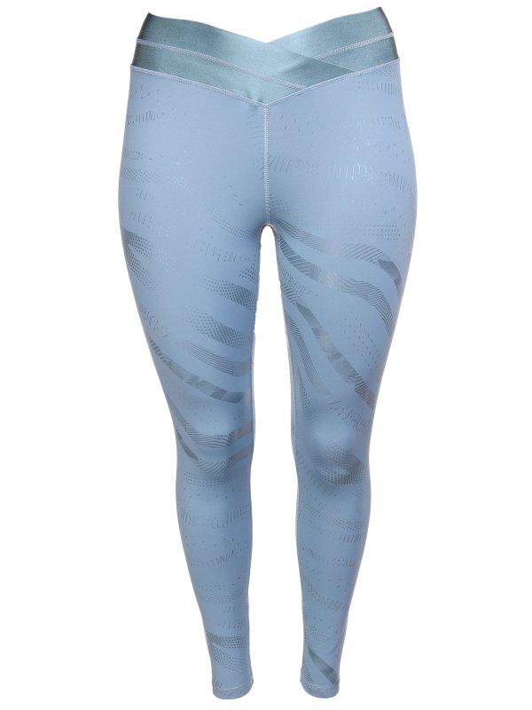 Blå trænings tights med shiny print fra Only Play Curvy