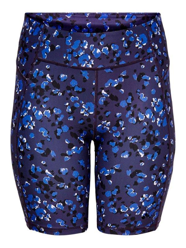 Trænings shorts i mørkeblå med print  fra Only Play Curvy