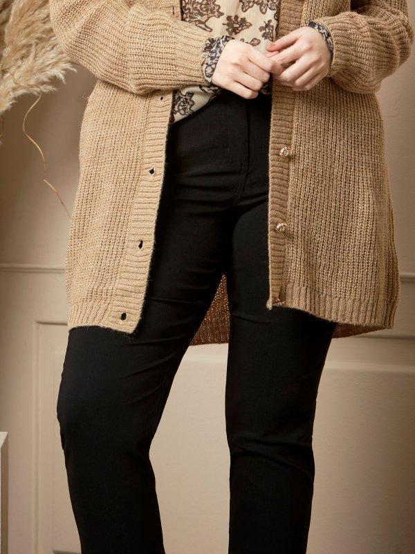 Sorte stretch bukser med cool lomme detalje fra Zhenzi