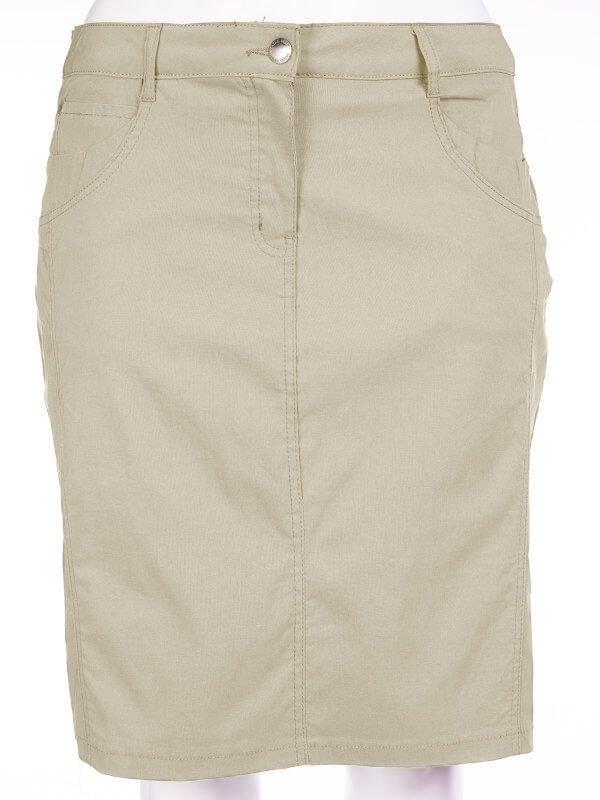 Beige nederdel med skånebukser  fra Zhenzi