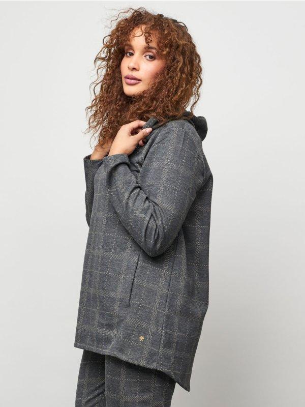 Ternet hættetrøje med lommer fra Aprico