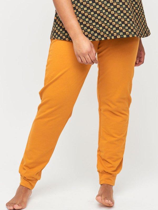 Gule trænings bukser i bomuldsjersey  fra Aprico Sport