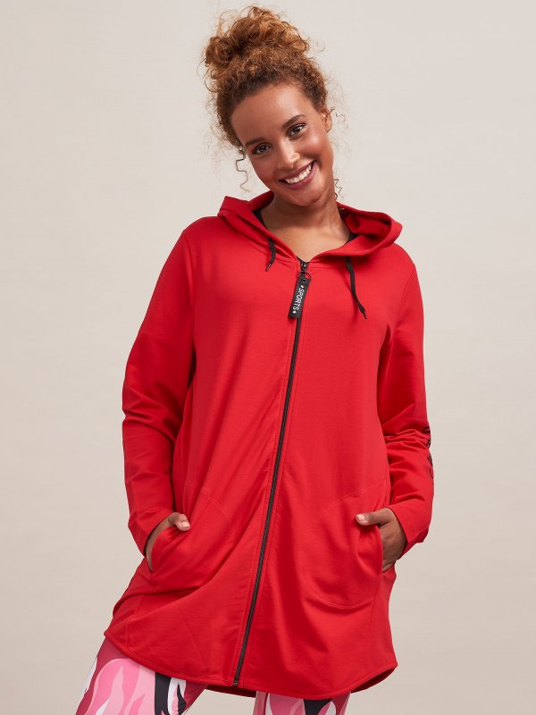 Rød træningsjakke fra Aprico