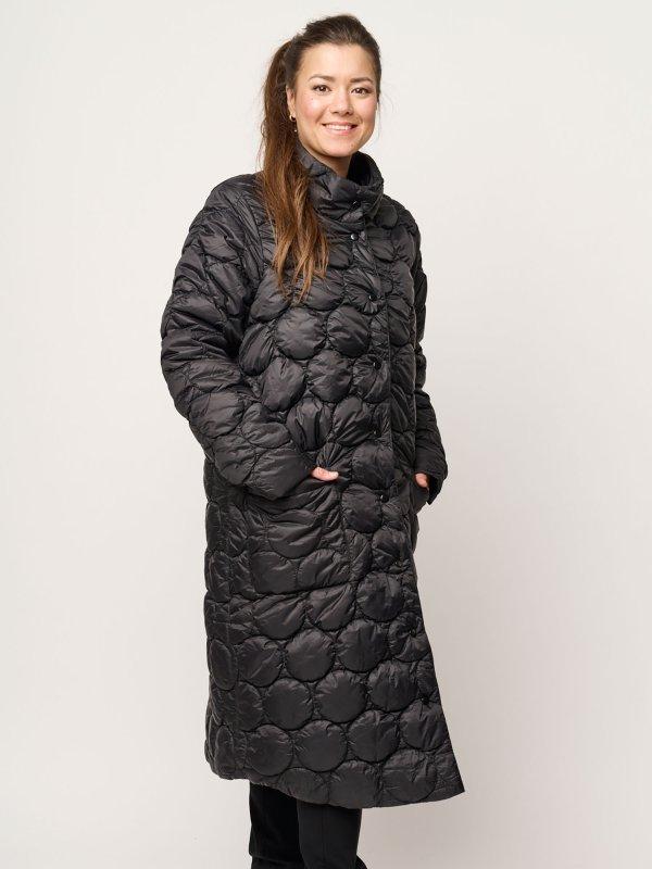 Eksklusiv lang sort vatteret jakke fra Pont Neuf