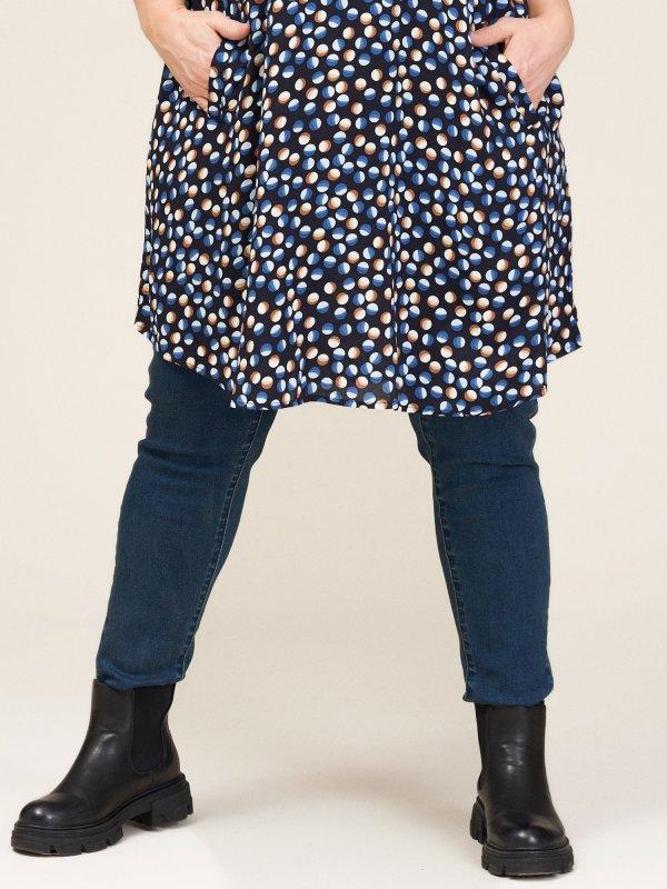 Mørkeblå denim jeans/leggings fra Gozzip