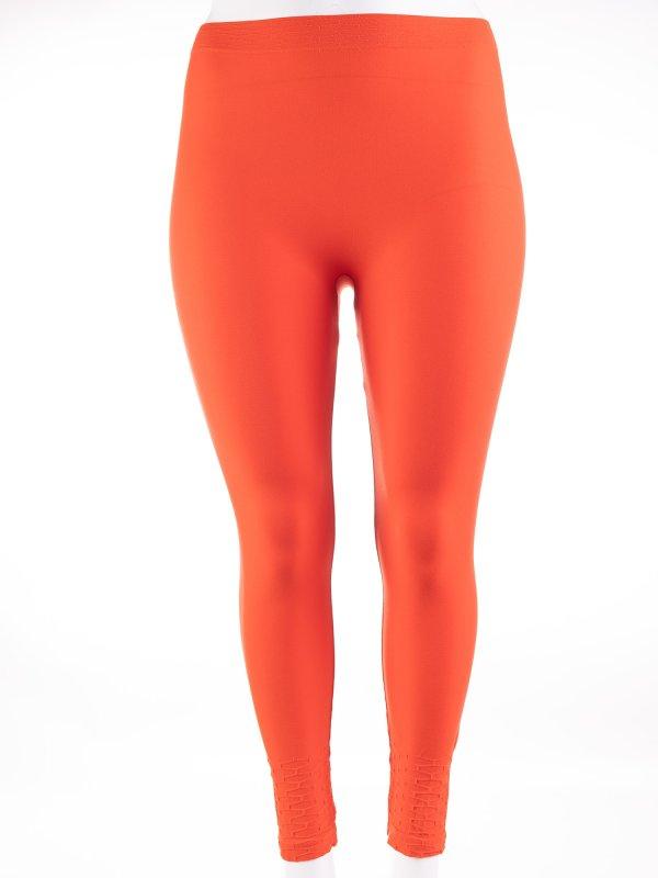 Chilli orange seamless leggings fra Gozzip