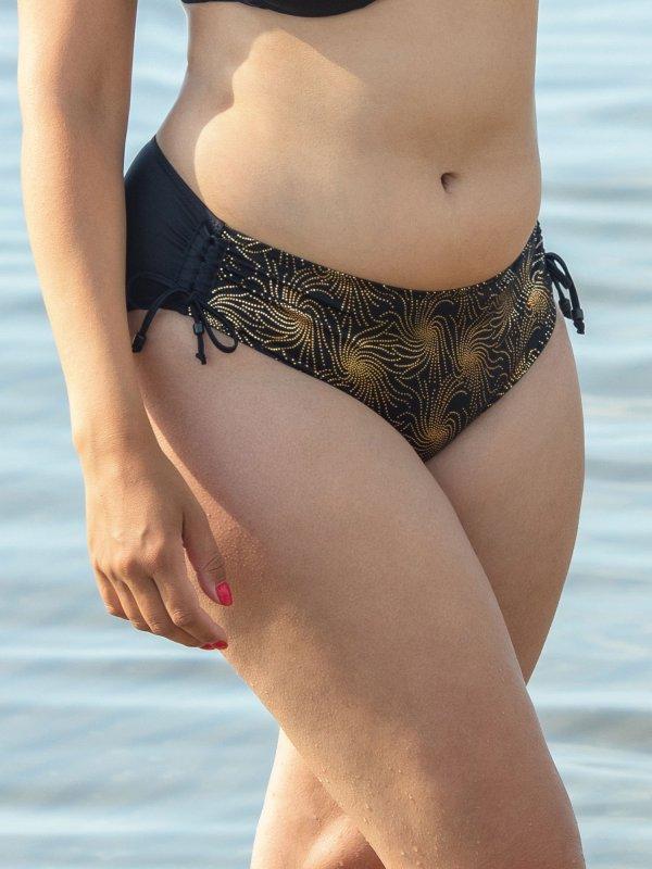 Tai bikini trusse med guldprint  fra Plaisir