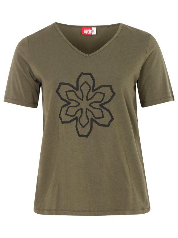 Armygrøn trænings t-shirt med print fra Aprico Sport