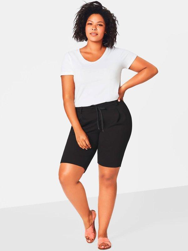 skønne sorte shorts i 100% bomuld fra Zizzi