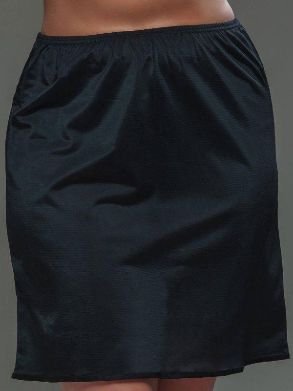 Kort sort underskørt i store størrelser fra Plaisir