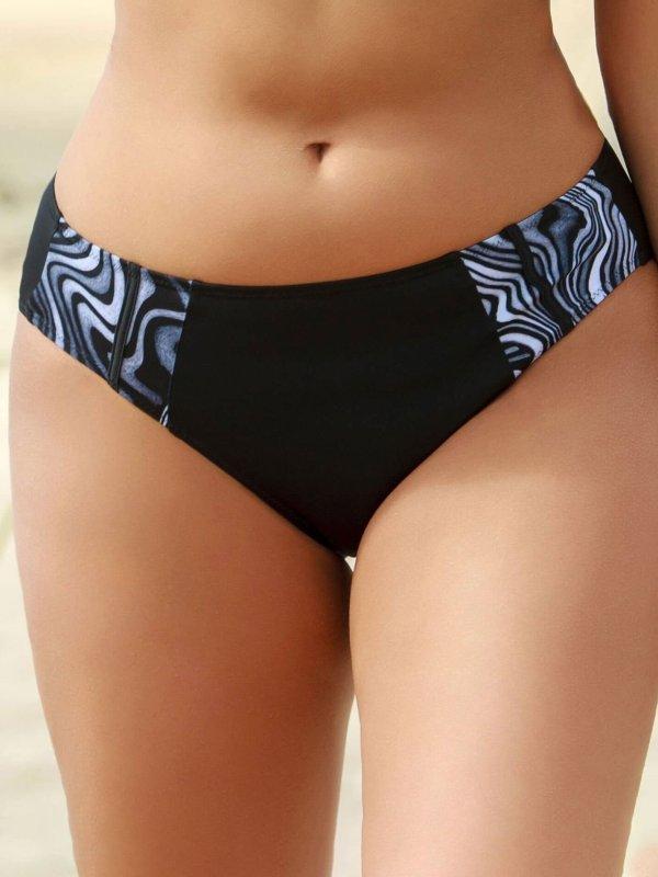 Sort bikini tai trusse med gråt sea-shell print fra Plaisir
