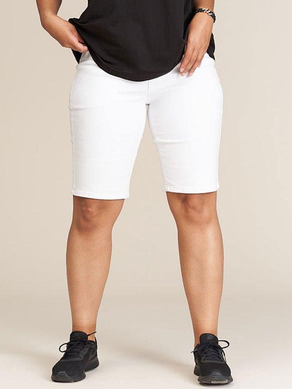 Hvide shorts i super strækbar kvalitet  fra Studio