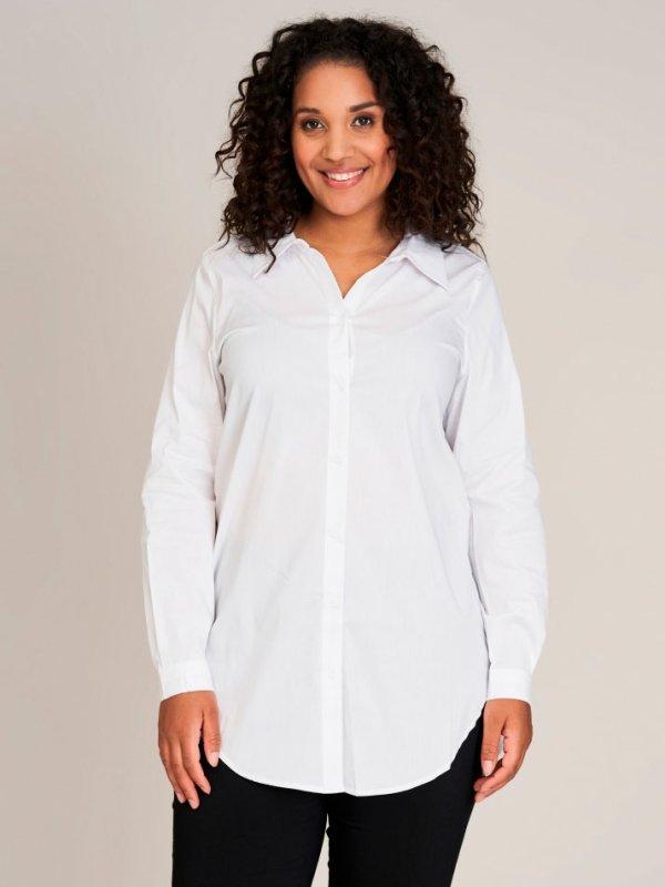 Hvid skjorte med lange ærmer og stretch  fra Sandgaard (fra Studio)