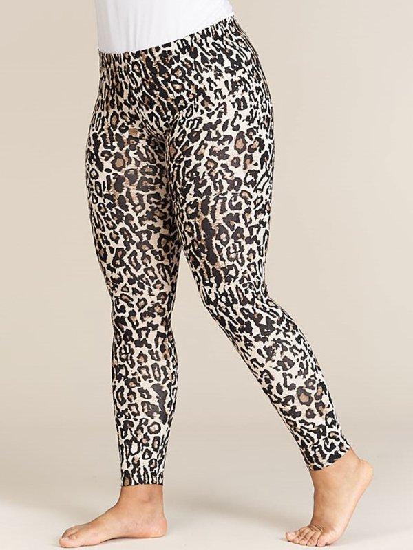 Leggings med leopardprint i brune nuancer fra Sandgaard (fra Studio)