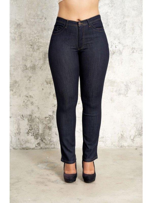 Carmen - Mørkeblå denim jeans med lang benlængde fra Studio