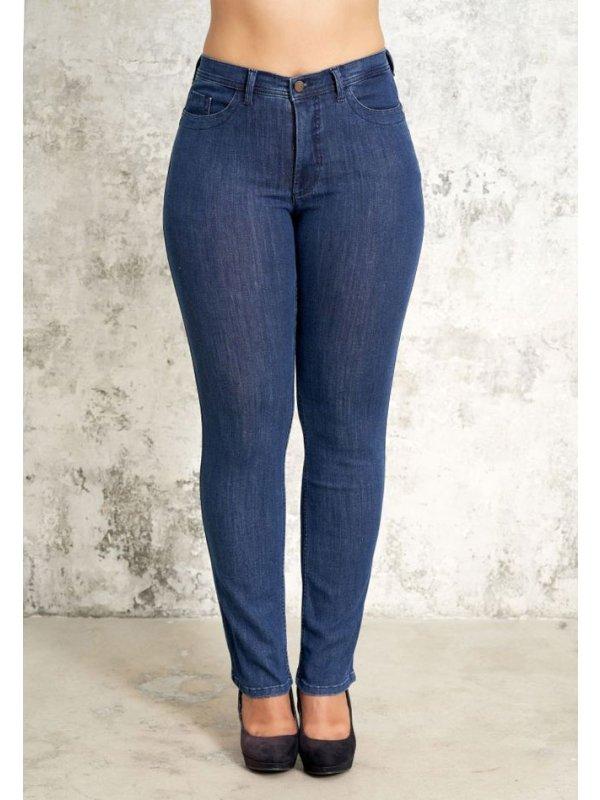 Carmen - Blå denim jeans med kort benlængde fra Studio