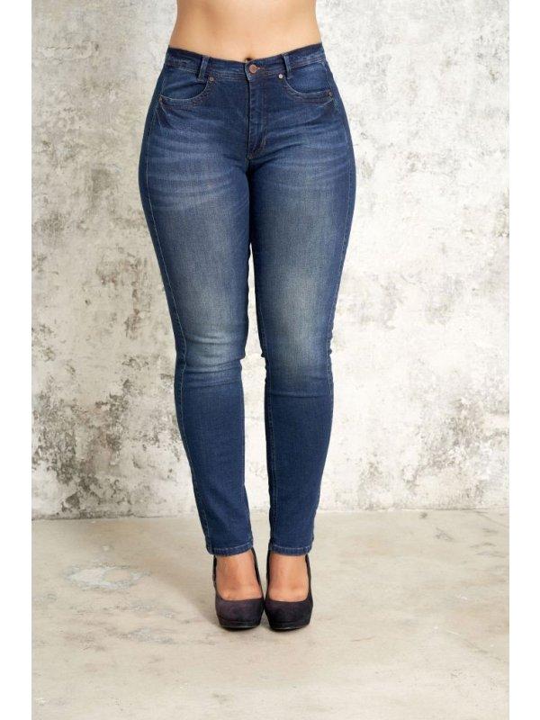 Blå Carmen denim jeans med kort benlængde  fra Studio