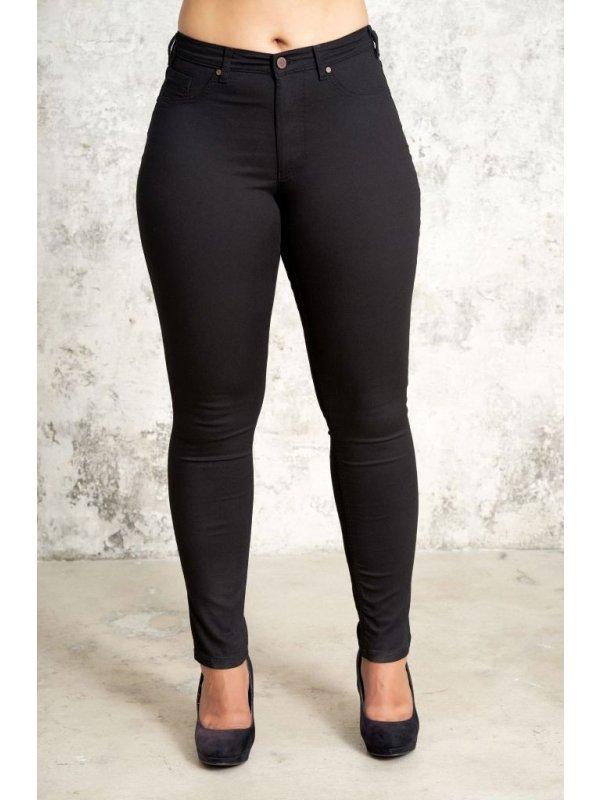 Carmen - Sorte powerstretch jeans med lang benlængde fra Studio