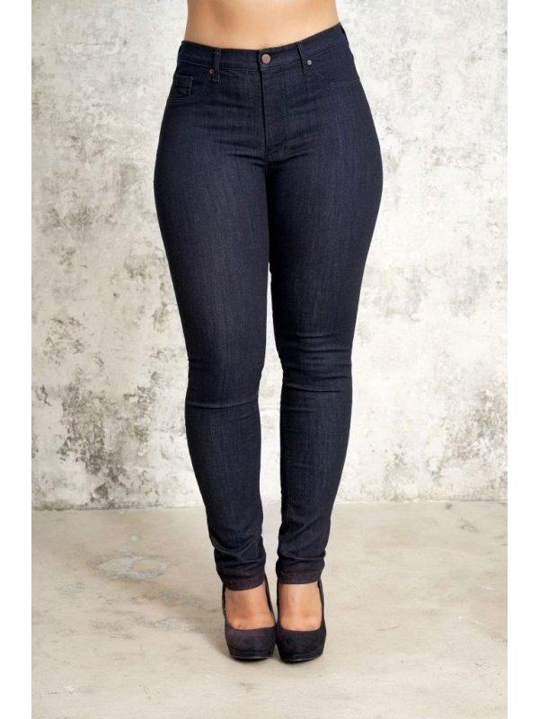 Mørkeblå Carmen denim jeans med kort benlængde fra Studio
