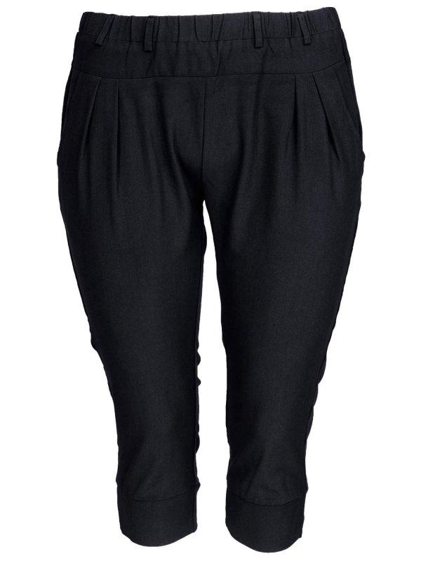 Klassiske sorte capri bukser med rummelig facon fra Studio