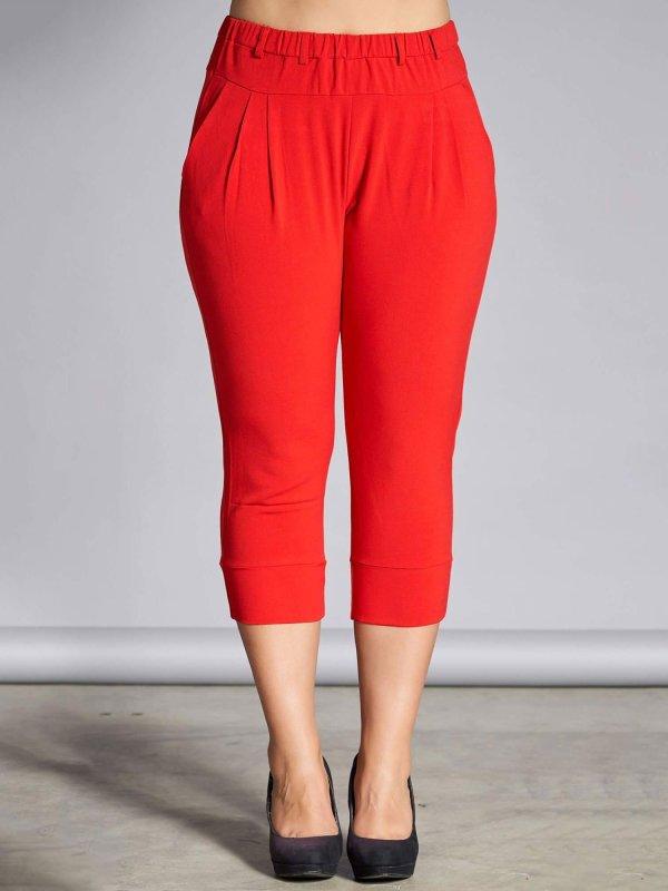 Klassiske røde capri bukser med lommer fra Studio