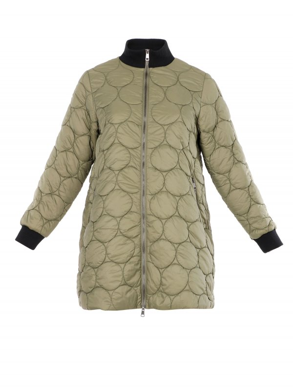 Grøn jakke med eksklusiv vattering i flot mønster med cirkler fra Pont Neuf