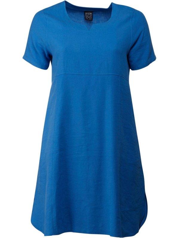 Blå Darci kjole i viskose og hør fra Pont Neuf
