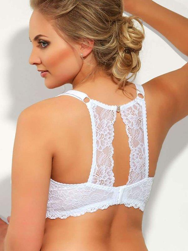 Valentine - Hvid blonde BH, med blonde ryg  fra Plaisir