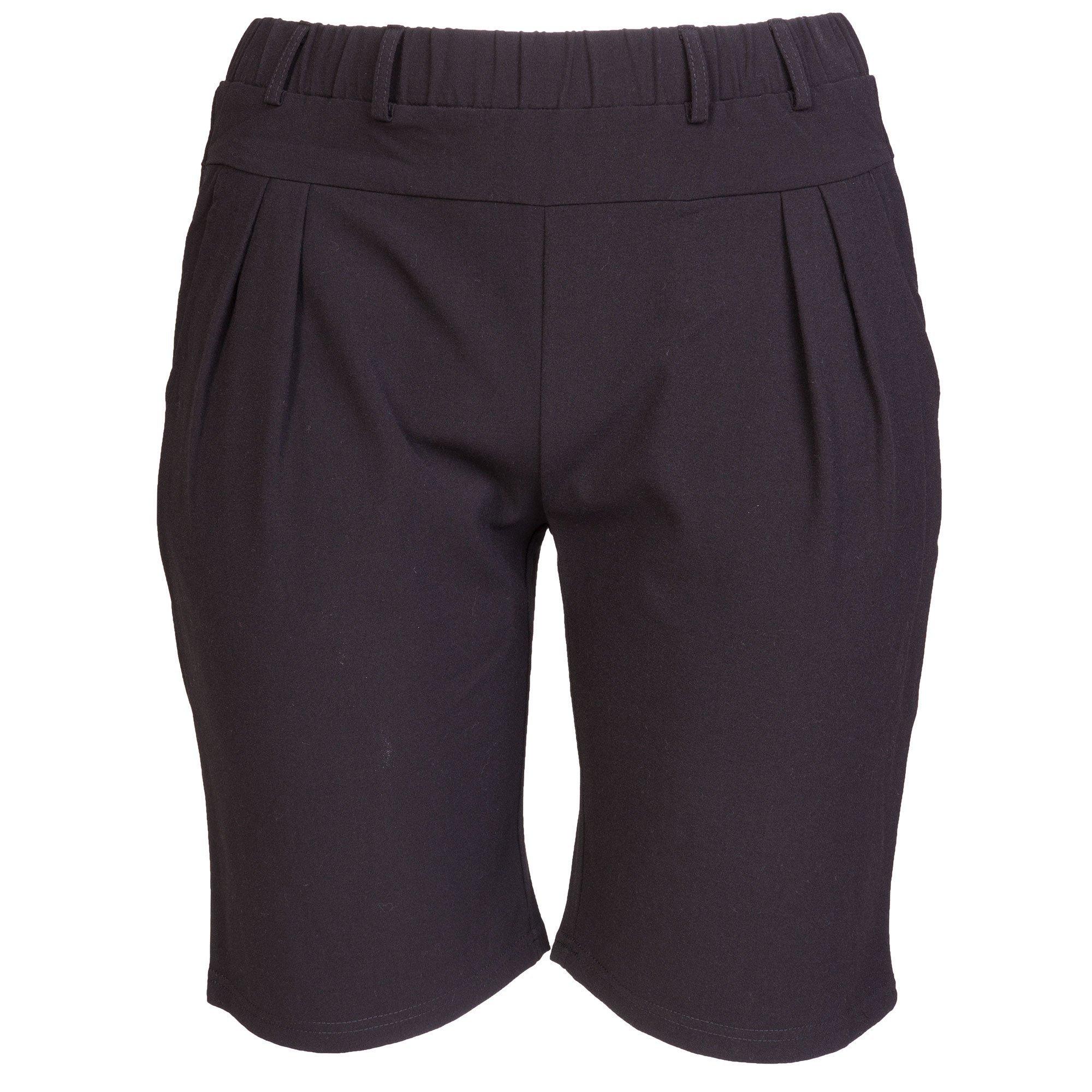 Klassiske sorte shorts med rummelig facon