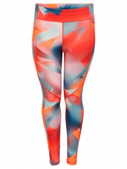 Only Play Curvy Printet tights med neon farver