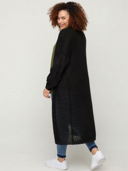 Zizzi Lang sort strik cardigan