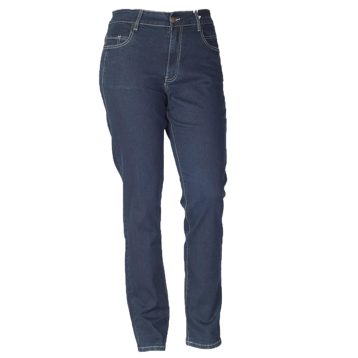Mørkeblå denim jeans fra deluca