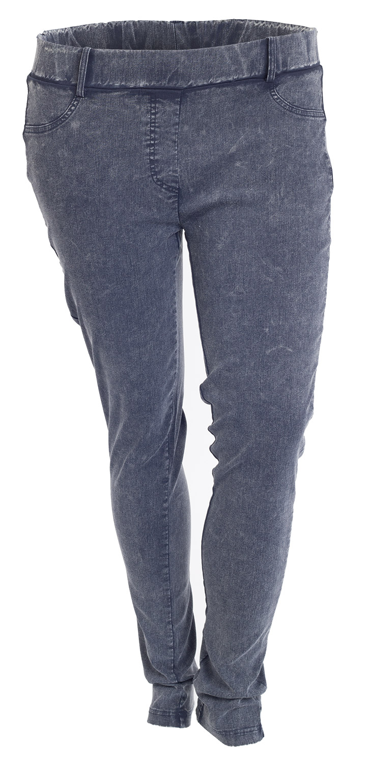 Ultra strækbare leggings i blå denim look