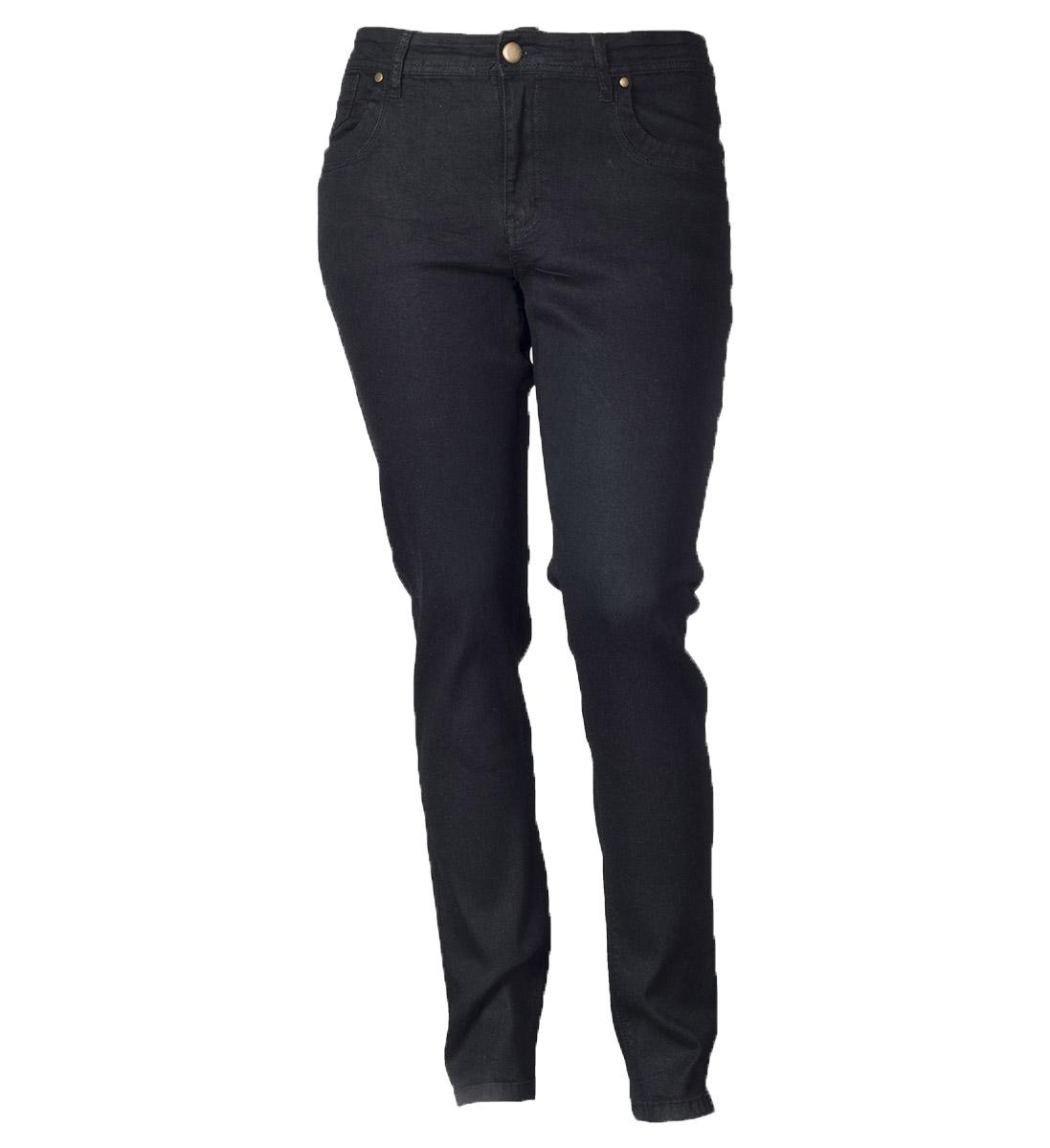 Sorte jeans med stretch fra deluca