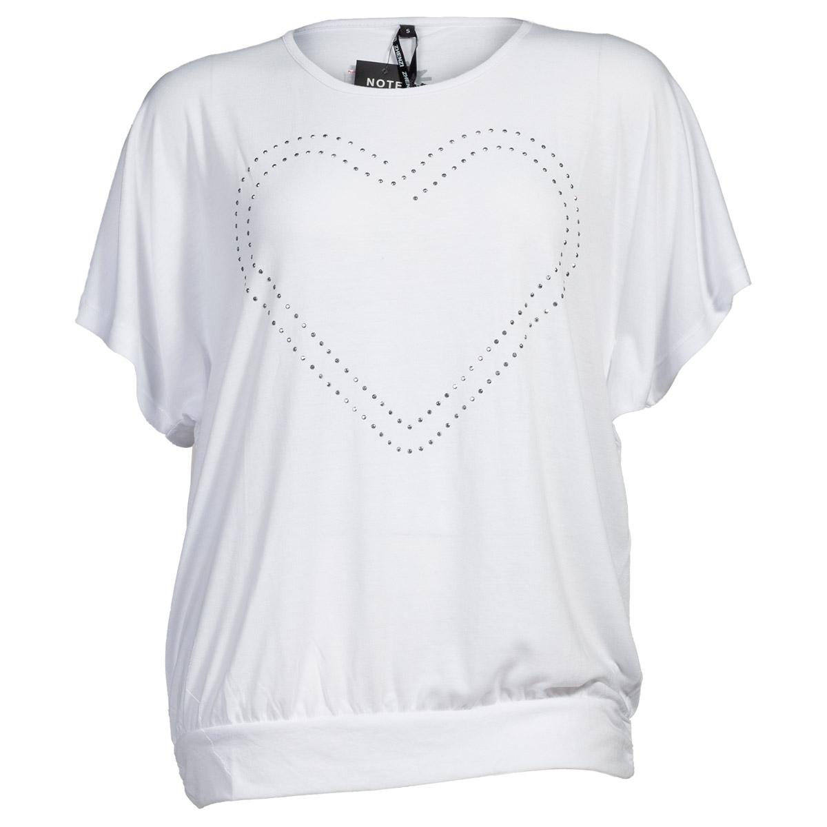 Hvid t-shirt med hjerte